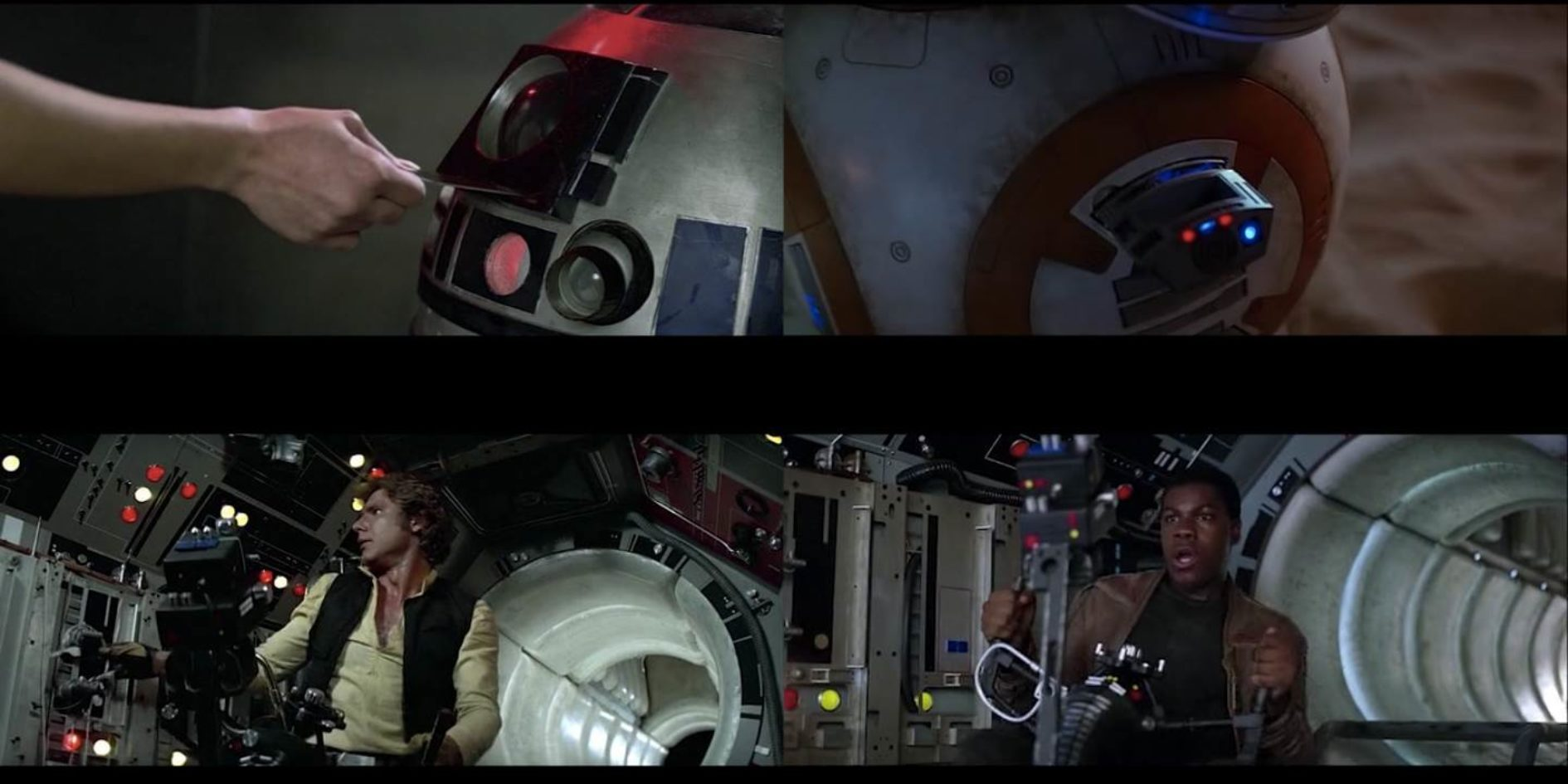 """A New Awakening"" - Star Wars Episode IV and VII Shot Comparison"