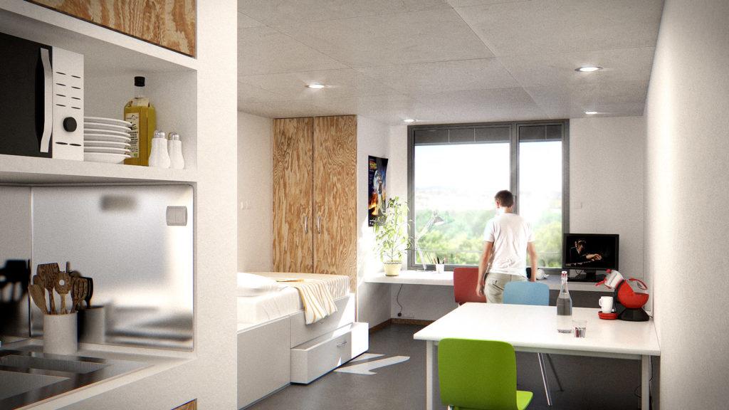 Appartement étudiant parc Montcalm Montpellier