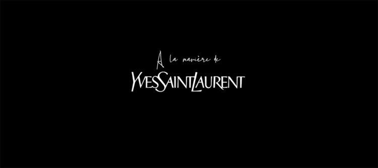 À la manière de... Yves Saint Laurent