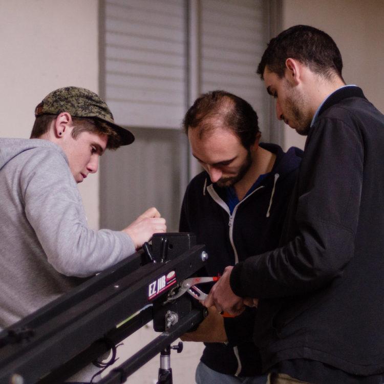 Grue de tournage avec extension EZ Jib.