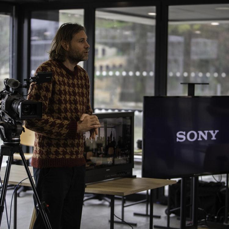 Visite de Sony France à CinéCréatis !