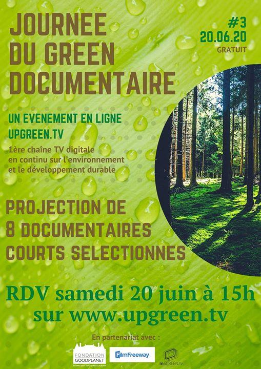Affiche du festival Journée du Green Documentaire Upgreen TV